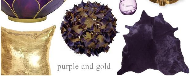 Interior Design Trends: Purple and Gold