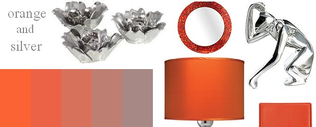 Interior Design Trends: Orange and Silver