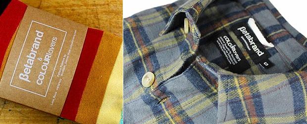 COLOURlovers + Betabrand Creations 2011: Plaid Shirts & Striped Palette-Socks