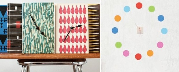Time Design : Colorful Clocks For Every Room