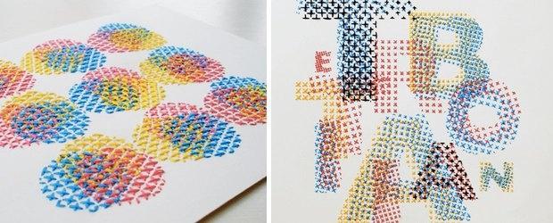 CMYK Embroidery by Evelin Kasikov