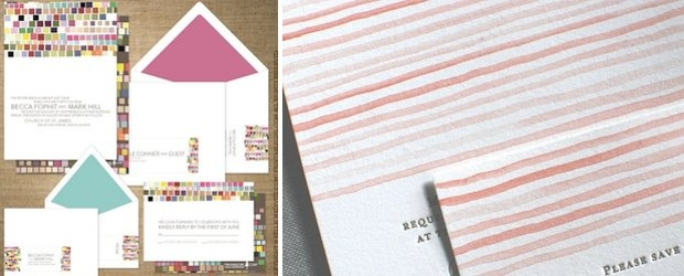 Colorful Wedding Invitations Trends