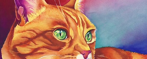 Colorful Watercolor Cats