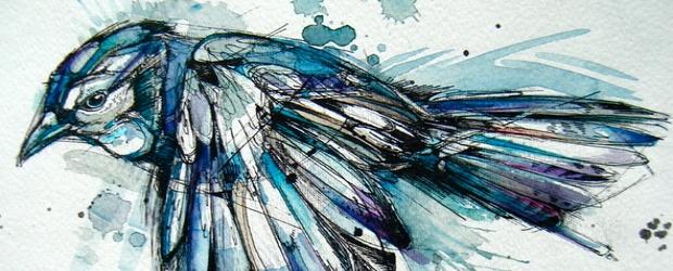 Colorful Watercolor Birds