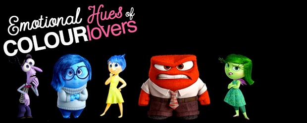 Inside out by DisneyPixar: Emotional Hues of COLOURlovers [ infographic ] + Mini Challenge!