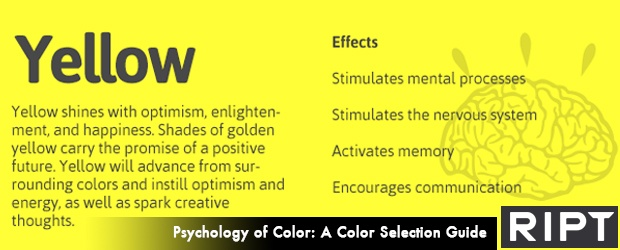The Psychology of Color: A Guide to Color Selection [ Infographic ] by RIPT Apparel