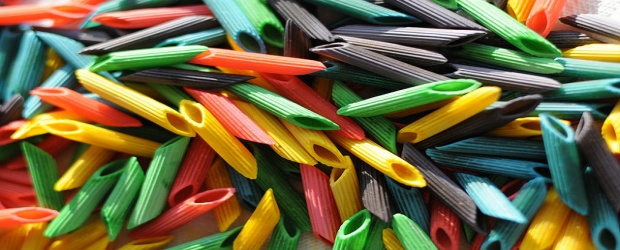 Color Inspiration in Food: Oodles of Pretty Pasta Noodles
